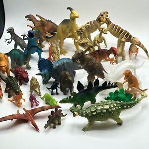 Dinosaur Toy Figure Lot of 36 Educational Safari Ltd Schleich Carnegie Procon