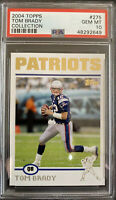 "2004 ""TOPPS GOLD🏆COLLECTION""🔥TOM BRADY💥PSA 10🔥GEM MINT #275 SUPERBOWL CHAMPS"