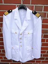 Bundeswehr Marine Uniform Sakko Gr.50 190-195cm Bw Jacke Kostüm Kapitän weiß #