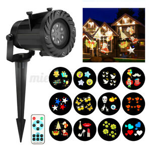 UK LED Light Projector Laser Projection 12 Patterns Xmas Praty Outdoor + Control