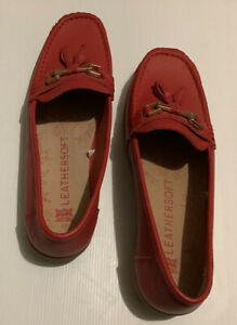 RIVERS LEATHERSOFT Size 43 Women's Size 11.5 Red Shoes Leather Upper And Lining