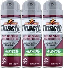 Tinactin Antifungal Athletes Foot DEODORANT POWDER Spray 4.6oz (3 pack)green***