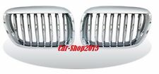 Front Kidney Grilles Chrome-Silver For BMW E53 SUV X5 1999-2003