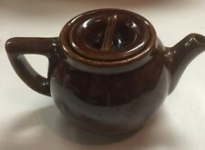 Vintage Teapot For One Little Dark Brown Pottery Made in the USA