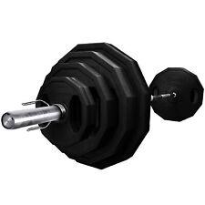 BodyRip Olympic Polygonal Weights Set 80KG 6FT Barbell Bar Plates Collars Gym