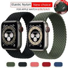 Плетеная соло петля тканевый ремень ремешок для Apple часы серии Se 6, 5, 4, 3, 2 40/44 мм