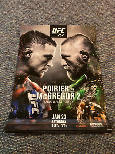 New Official Poirier vs McGregor 2 UFC 257 Fight Poster 18x24