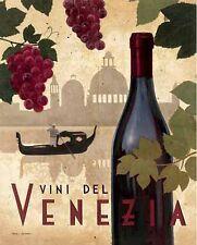 Marco Fabiano: Wine Festival II Fertig-Bild 40x50 Wandbild Wein Venedig Küche