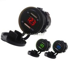 1A&2.1A Dual USB Charger Socket Adapter Power Outlet for 12V-24V Car Motorcycle