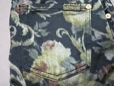 SEVEN 7 FOR ALL MANKIND WOMENS THE SKINNY FLORAL CHINTZ JACQUARD PANTS SIZE 25