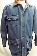Roots Jacket Classic Trucker Style Blue Jean Denim Men's Size Medium