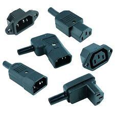 IEC Mains Power Plug / Socket Cable Connectors C13 C14
