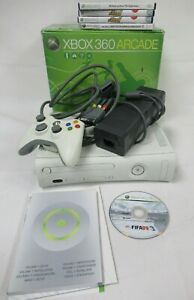 Microsoft Xbox 360 Arcade Console with Games Boxed