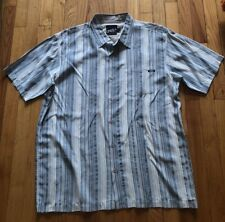 O'Neill Blue Striped Short Sleeve Button Down Shirt Size Large