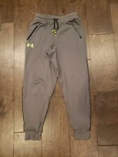 Boys Under Armour Gray Joggers With Yellow UA Symbol Size Youth Medium