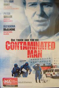 CONTAMINATED MAN DVD AKA Contagion Virus Thriller UK William Hurt Peter Weller