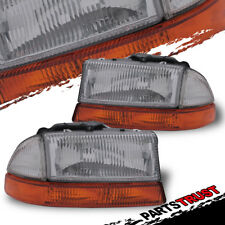 1998-2004 Dodge Dakota/1998-2003 Durango Chrome Headlights + Corner Signal Lamps