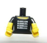 Lego 1 Body Torso For Minifigure Black Short Sleeve Programmer Computer PC Geek