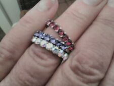 Crystal from Swarovski   3 stack  Rings size L /M