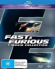 Fast and Furious Complete 7-movie Collection Blu-Ray NEW Region B