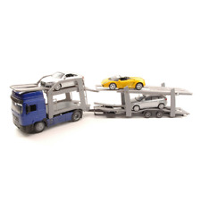 CAMION MAN F 2000 VIOLET WITH 3 CARS 1:43 New Ray Camion Die Cast Modellino