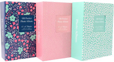 "TALLON 6""x 4"" DESIGNER 100 POCKETS PHOTO ALBUM- BIRTHDAY, WEDDING, ANNIVERSARY"