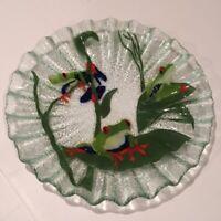 Fused Glass Art Plate w/ Frog by Rosemarie Mazzei