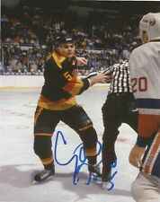 Vancouver Canucks Garth Butcher Signed Autographed 8x10 Photo COA C