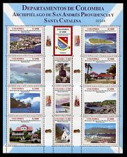 Colombia 1246 MNH, Waterfall, Church, Art, Boats, Nature, Buildings 2004. x23620