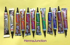 12 Henna Multi Color Natural Tubes Golecha Temporary Tattoo Body Art Herbal Ink