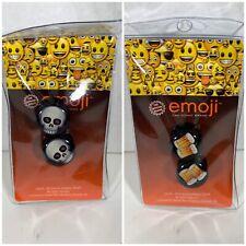 "Emoji Ear Guages Gages Plugs Beer Skulls Emoticons 7/16"" 11MM Plastic (Lot Of 2)"