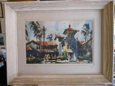 ROBERT LANDRY 1921-1991 Early California Impressionist Watercolor San Diego