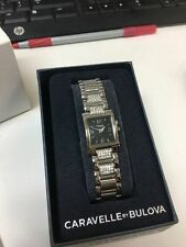 Ladies Caravelle by Bulova crystal accented watch 43L115