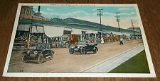 Postcard Vintage French Market New Orleans Louisiana  -Cars Autos - Unposted