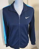 Women's Large Nike Full Zip Navy Blue Track Jacket