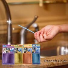 12Pcs/set Sani Sticks Kitchen Toilet Bathtub Drain Cleaner Sewer Cleaning Rod @E