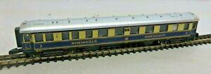 From Märklin Mini Club Z Gauge 8133: Rheingold Passenger Car 2. Class