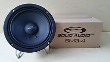 """Brand New Solid Audio 6M3-4 6"""" Inch 4 ohm Mid-Bass Speakers"""