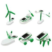DIY Assembly 6 in 1 Solar Panel Puppies Plane Kit Kid Educational-Toys M3L3