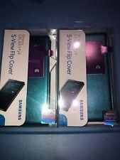 Lot Of 2pc Samsung Galaxy S5 Green S-View Flip Cover Phone Case folio slim OEM