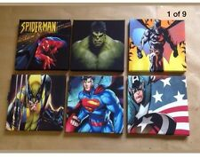 A Batch Of 6 Superhero-Marval Canvas Pictures 8 X 8 Inch Each Picture