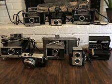 Vintage 8 Camera Lot Polaroid Bell Howell Brownie