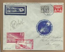 "1935 NETHERLANDS ""Rocket Mail"" Cover Signed by Rocket Mail Pioneer Karl Roberti"
