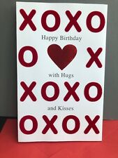 3-D Pop Up Hugs And Kisses Happy Birthday American Greetings Heart Card