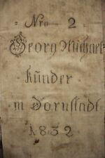 GRAINSACK  German Grain sack printed black writing RARE hemp linen textile