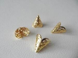 BNCBC01RG: 20 x Pale Rose Gold Plated Filigree Cone Bead End Caps