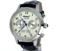 INGERSOLL GERMAN DESIGN AUTOMATIC 316 STEEL 45mm SAPPHIRE LEATHER IN4410WH
