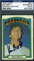 Ken Brett Signed Psa/dna 1972 Topps Autograph Authentic