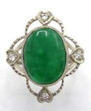 Anelli di lusso verde naturale giadeite