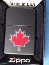 CANADA MAPLE LEAF SHADOW ZIPPO LIGHTER NEW GIFT BOX  NICE CANADIAN SOUVENIR
